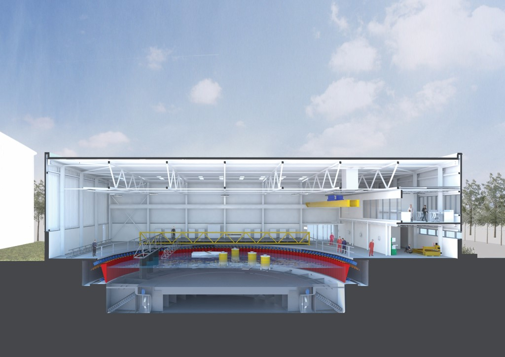 FloWave Test Facility, artist's impression (Bennetts Associates)